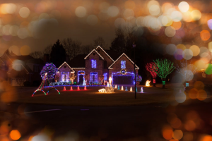 Christmas LightsOnGutters-HusserWindowCleaning
